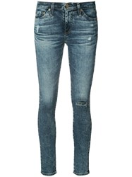Ag Jeans Skinny Distressed Women Cotton Polyurethane 30 Blue