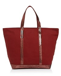 Vanessa Bruno Sequin Canvas Tote Epice Red