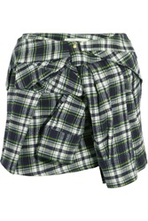 Faith Connexion Plaid Cotton Blend Flannel Mini Skirt