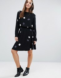 Selected Femme Printed Skirt Co Ord Black Print Comb