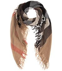 Burberry Wool Scarf Multicoloured