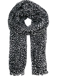 Saint Laurent Blotchy Print Scarf Black