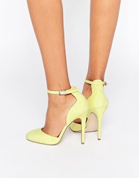 Asos Playwright High Heels Pale Yellow