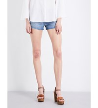 J Brand 1044 Frayed Hem Mid Rise Denim Shorts Adventure