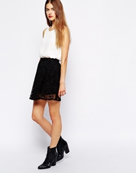 Wyldr Rose Skirt In Lace Black