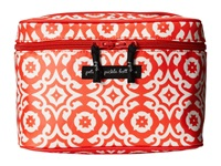 Petunia Pickle Bottom Glazed Travel Train Case Relaxing In Rimini Wallet Red