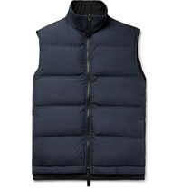 Berluti Quilted Shell Down Gilet Navy