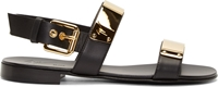 Giuseppe Zanotti Black Metallic Accent Sandals