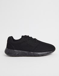 Loyalty And Faith Lace Up Trainer In Black