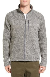 Gramicci Men's Wine Down Regular Fit Sweater Knit Jacket Heather Grey