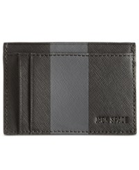 Jack Spade Men's Striped Barrow Leather Id Wallet Gray