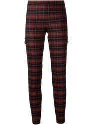 Giamba Checked Trousers Red