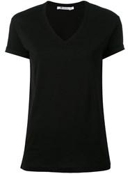 Alexander Wang T By V Neck T Shirt Black