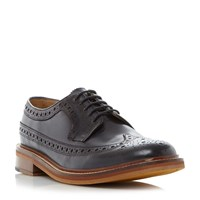Bertie Pharrell Lace Up Brogue Shoes Navy