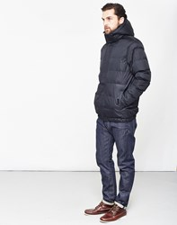 The Idle Man Puffer Jacket Black