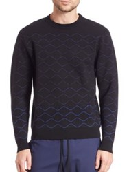 Public School Quilted Knit Pullover Blue Black