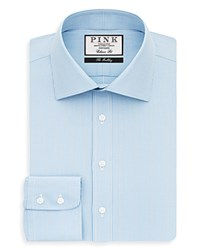 Thomas Pink Bertrand Check Dress Shirt Bloomingdale's Classic Fit Pale Blue White