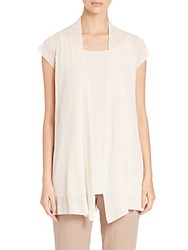 Eileen Fisher Cap Sleeve Cardigan Bone
