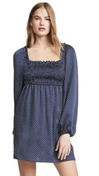 The Fifth Label Fountain Long Sleeve Dress Navy White