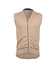 Mas_Q Knitwear Sweater Vests Men Sand