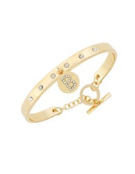 Bcbgeneration Say My Name Glass Stone B Toggle Bracelet Gold