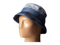 Original Penguin Color Blocked Chambray Bucket Hat Indigo Denim Bucket Caps Blue