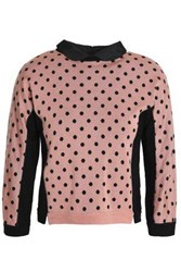 Red Valentino Printed Wool Silk And Cashmere Blend Sweater Baby Pink