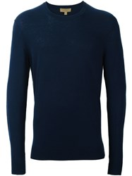Burberry London Elbow Patch Jumper Blue