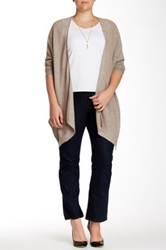 14Th And Union Cashmere Easy Kerchief Cardigan Plus Size Beige