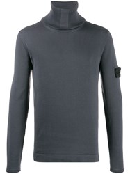 Stone Island Shadow Project Roll Neck Sweater Blue