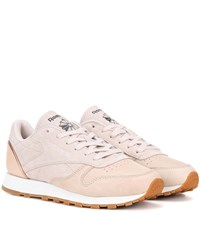 Reebok Classic Diamond Leather And Suede Sneakers Pink