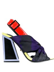 Kat Maconie Twisted Front Sandals Black