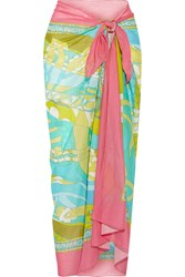 Emilio Pucci Printed Cotton Gauze Sarong Green