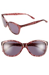 Women's Bcbgmaxazria 'Precious' 56Mm Sunglasses Raspberry Lace