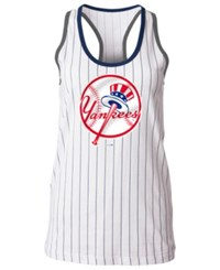 5Th And Ocean New York Yankees Pinstripe Tank White