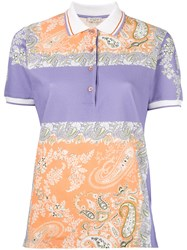 Etro Square Print Polo Shirt