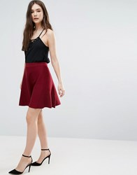 Lavand Knitted Skater Skirt In Burgundy Burgundy Red