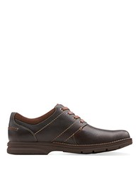 Clarks Senner Place Leather Sneakers Dark Brown