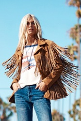Understated Leather Western Tan Fringe Jacket