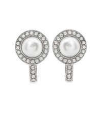 Balenciaga Clip On Earrings Silver