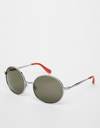 Vivienne Westwood Round Sunglasses With Silver Frame Lightgun