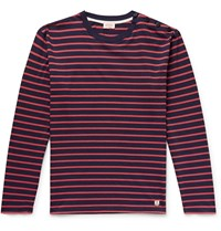 Armor Lux Striped Cotton T Shirt Red