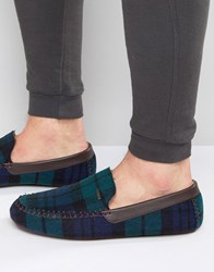 Ted Baker Moriss Checked Slippers Green