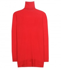 Balenciaga Cashmere Turtleneck Sweater Red