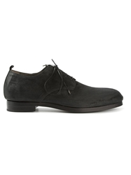 Rocco P. Distressed Derby Shoes Black