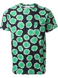 Toga 'Virilis' Whirl Print Relaxed Fit T Shirt Green
