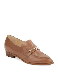 Nine West Oxidize Leather Loafers Light Brown