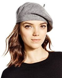 C By Bloomingdale's Cashmere Angelina Beret Pale Gray