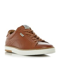 Barbour Howdon Leather Cupsole Trainers Tan