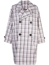 Opening Ceremony Checked Print Coat Pink